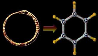 O sonho de Kekulé, no qual uma cobra mordia a própria cauda, levou-o à estrutura do benzeno