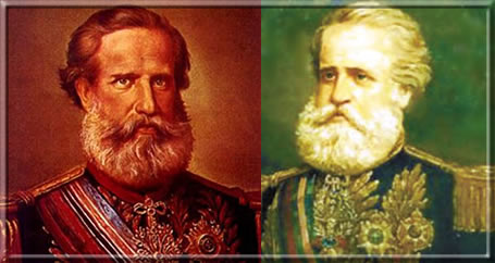 Dom Pedro II e o Marechal Deodoro da Fonseca