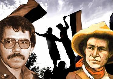 Daniel Ortega e Augusto Sandino: dois nomes das lutas sociais estabelecidas na Nicarágua