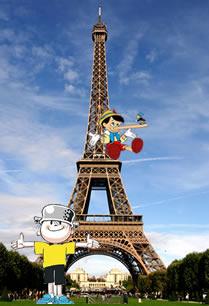 Menino Maluquinho (Melhoramentos) e Pinóquio (Walt Disney) Encontro em Paris, capital da mentira