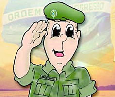 O soldado exerce atividade em tempos de guerra e na manutenção da paz