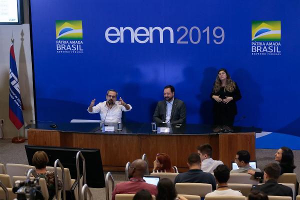 Critérios para a reaplicação do Enem foram divulgados em coletiva. Crédito da Foto: Antônio Cruz/Agência Brasil