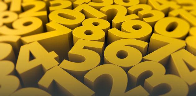 números amarelos