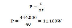Cálculo da potência máxima do motor da moto em CV