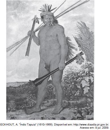"""Índio Tapuia"", tela de Albert Eckhout."