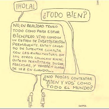 Tirinha com texto em espanhol