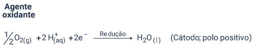 Reação de redução no eletrodo B