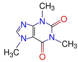 Fórmula estrutural da cafeína