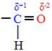 O carbono da carbonila fica com carga positiva
