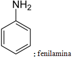 Fórmula estrutural da fenilamina
