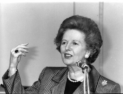 A Dama de Ferro, Margaret Thatcher, primeira-ministra da Grã-Bretanha entre 1979 e 1990, falecida em 2013.**