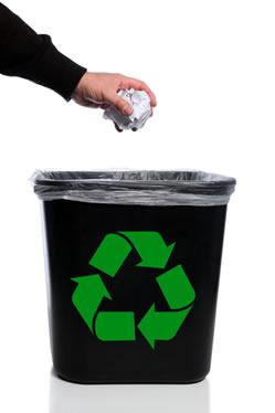 Coleta seletiva de papel para reciclagem