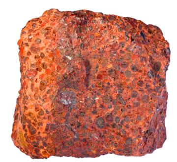 Minério bauxita natural