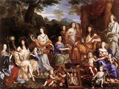 A família de Luís XIV, de Jean Nocret (1615-1672)