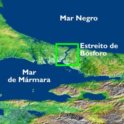 A posição geográfica de Bósforo é reveladora de sua importância estratégica
