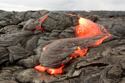Formação da camada rochosa de basalto