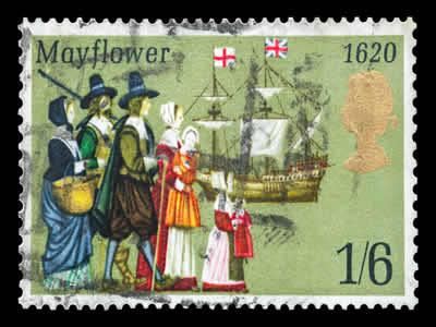 Selo em comemoração ao Mayflower