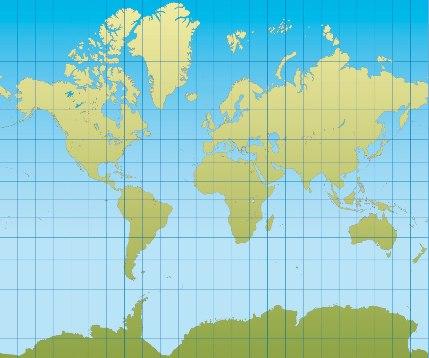 Projeção de Mercator atualmente utilizada