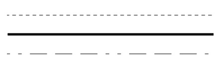 Exemplos de legendas lineares