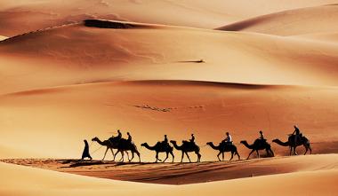 Caravana no Deserto do Saara