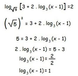 Questão 3 - Equação Logarítmica