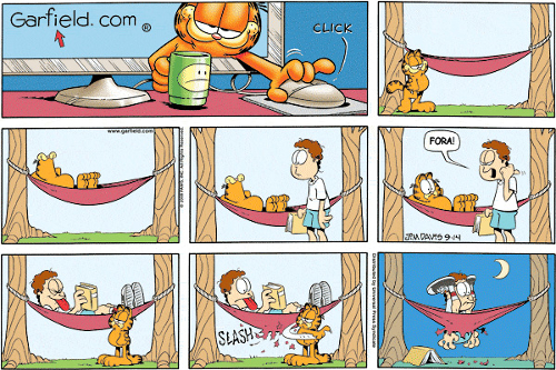 Tirinha Garfield, de Jim Davis