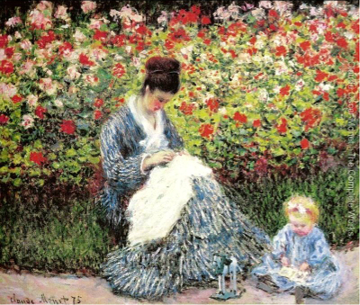 Camille Monet foi a primeira esposa de Claude Monet, fundador do impressionismo francês. Na tela, Monet a retratou com seu filho, Jean