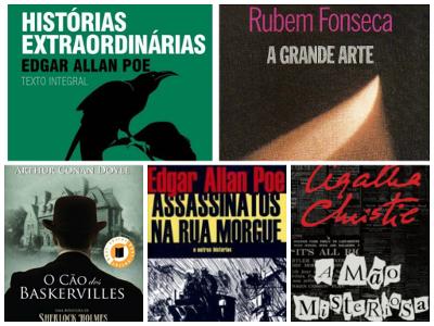Cinco dicas de Romances Policiais dos mais importantes autores do gênero no mundo e no Brasil **