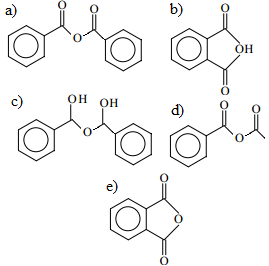Alternativas em exercício sobre anidridos orgânicos