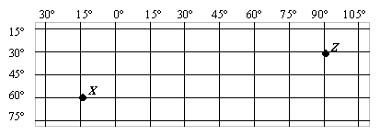 Alguns pontos de coordenadas representados