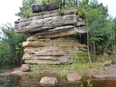 Algumas intrusões nos escudos da Amazônia são facilmente notadas