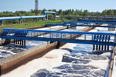 Uso de lagoa aerada em estação de tratamento de esgoto