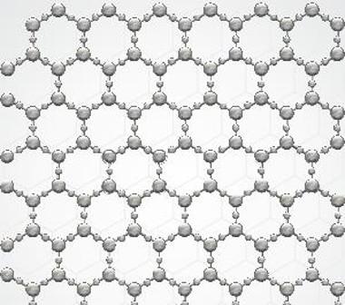 Representação ilustrativa de sólido cristalino com arranjo cristalino simétrico e periódico