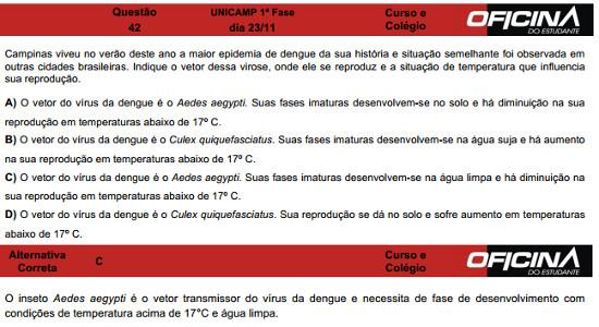 Questão 42 Unicamp 2015