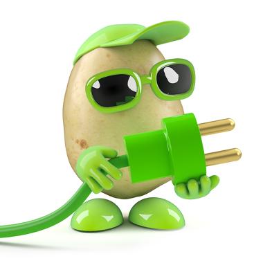 Batata produz energia na forma de corrente elétrica