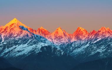 Porção indiana da Cordilheira do Himalaia