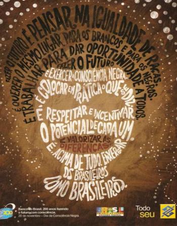 O anúncio publicitário acima toma emprestado alguns elementos da poesia concreta para cumprir seu objetivo comunicacional