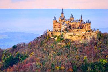 Castelo de Hohenzollern, na cidade de Hechingen, na região de Baden-Württemberg