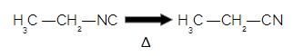 Ao aquecer uma isonitrila, ela se transforma em nitrila