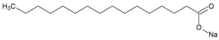 Fórmula estrutural de um sabão