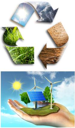 A reciclagem e fontes de energia limpas são formas de colocar em prática o desenvolvimento sustentável