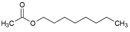 Estrutura química do Acetato de octila