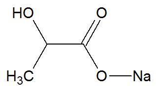 Estrutura química do Lactato de cálcio