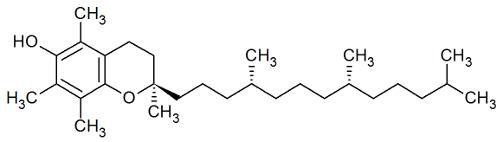Estrutura química do Tocoferol