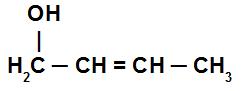 Estrutura de um álcool com uma ligação dupla entre os carbonos