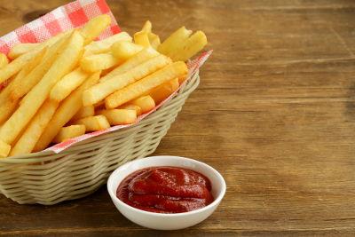 A batata frita é uma grande fonte de consumo de acrilamida