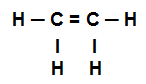 Fórmula estrutural do Dicloroeteno