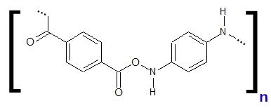 Fórmula estrutural do monômero do Kevlar