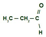Fórmula estrutural do Propanal