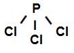 Fórmula estrutural do Tricloreto de fósforo